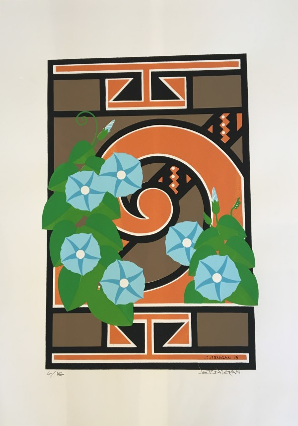 Fourmile Polychrome with Native Morning Glories by Wes Jernigan