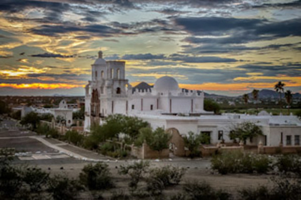 San Xavier at Sunset by Steve Dell