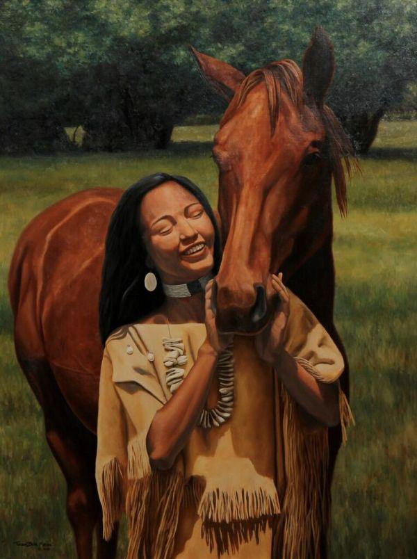 Shoshone Horse by TurningBear Mason