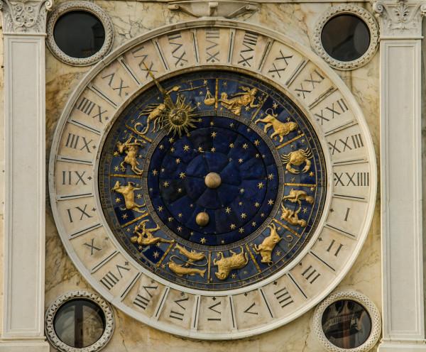 Clock Dial, Venice, Italy by Ed Warner