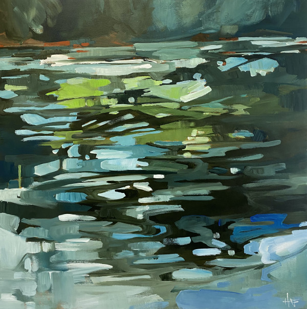 Creek Reflections 1 by Holly Ann Friesen