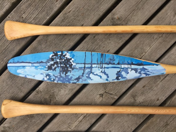 Winter Paddle by Holly Ann Friesen