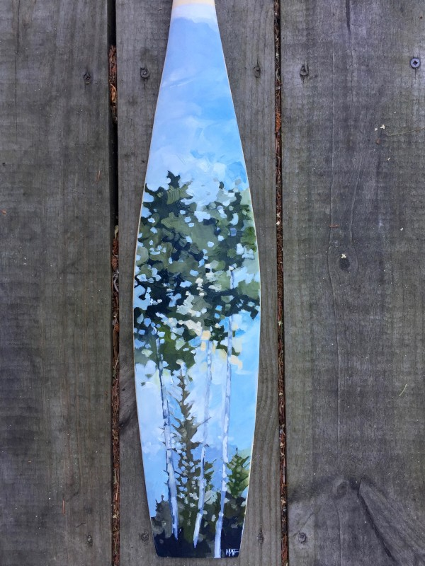 Summer boreal paddle (small) by Holly Ann Friesen