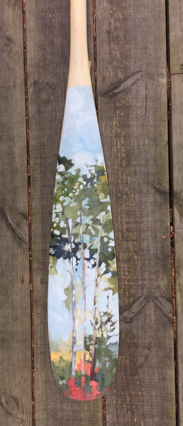 Summer Boreal (large paddle) by Holly Ann Friesen