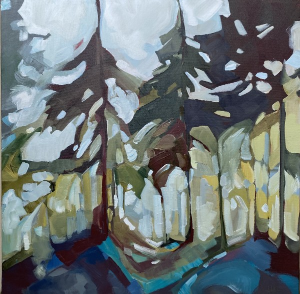Teal Forest by Holly Ann Friesen