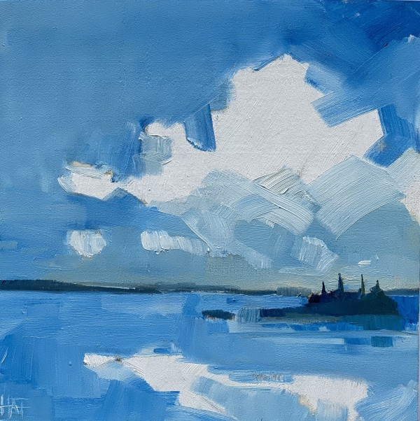 Bright Blue 1 by Holly Ann Friesen