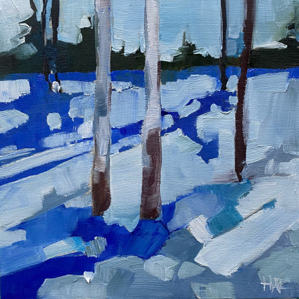 Tiny Winter Blues 1 by Holly Ann Friesen