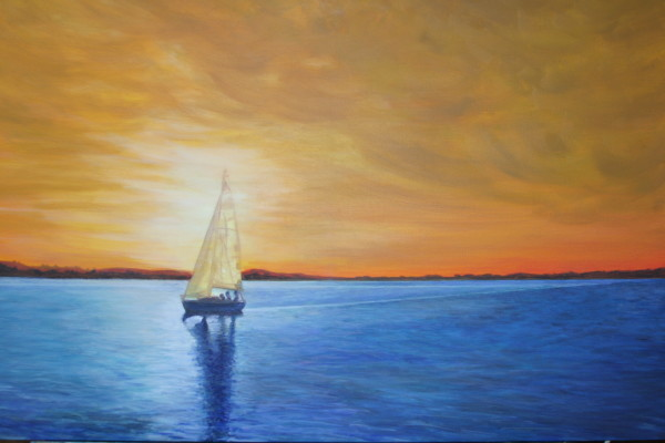 Gilded Sky Sailing by Jill Cooper