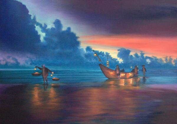 Sea Lantern Balance by Jill Cooper