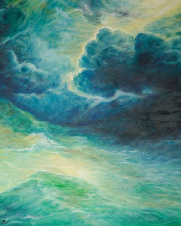Stormy Maritime Mint by Jill Cooper