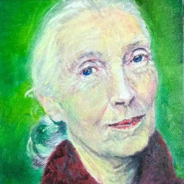 Jane Goodall - Fierce Female Series by Jill Cooper