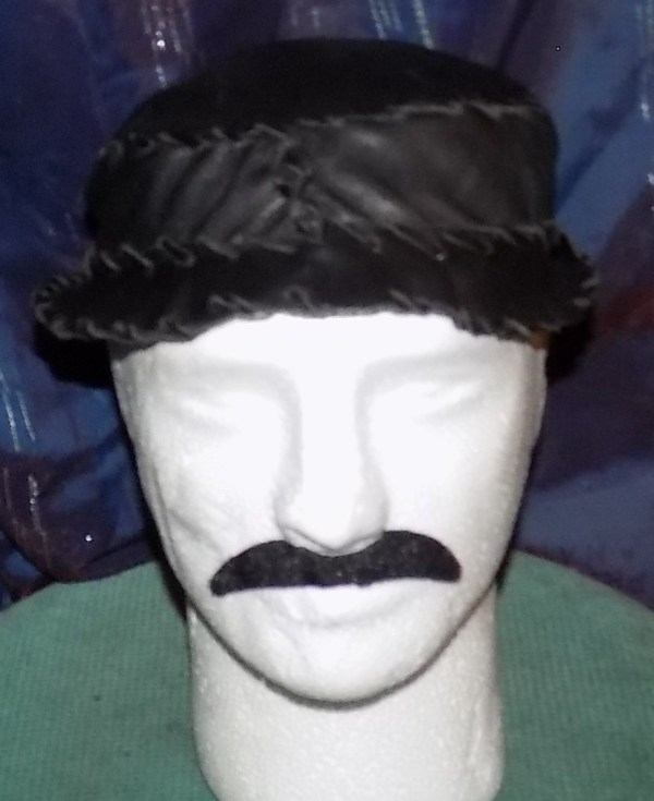 Leather-Brim-Hat by Annie Rich