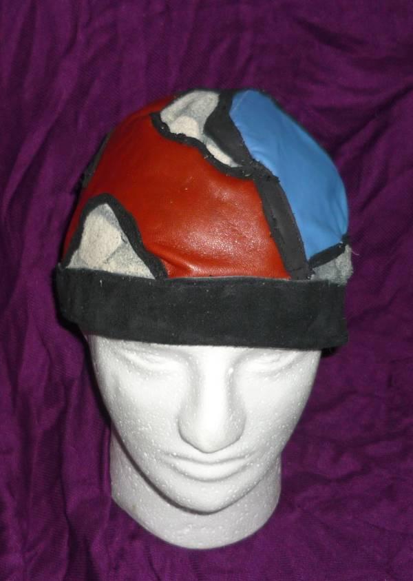 "Leather Cap -"" just-pieces"" - multicolor by Annie Rich"