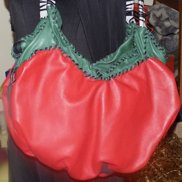 the tomatoe - Leather Shoulderbag by Annie Rich