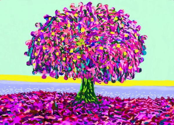 Pink Ragga Tree by Donald Hargrove