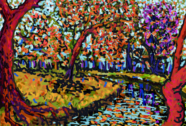 River in Bloom by Donald Hargrove