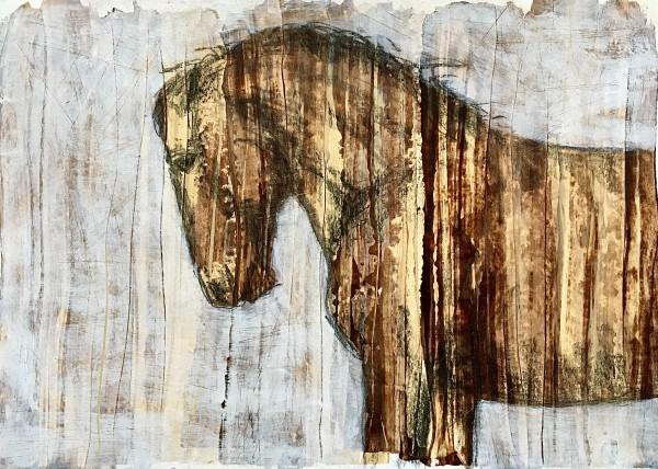Brown stripes I by Monica Cecilie Nilsen