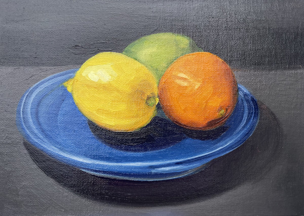 Blue plate by Lauren Ruch