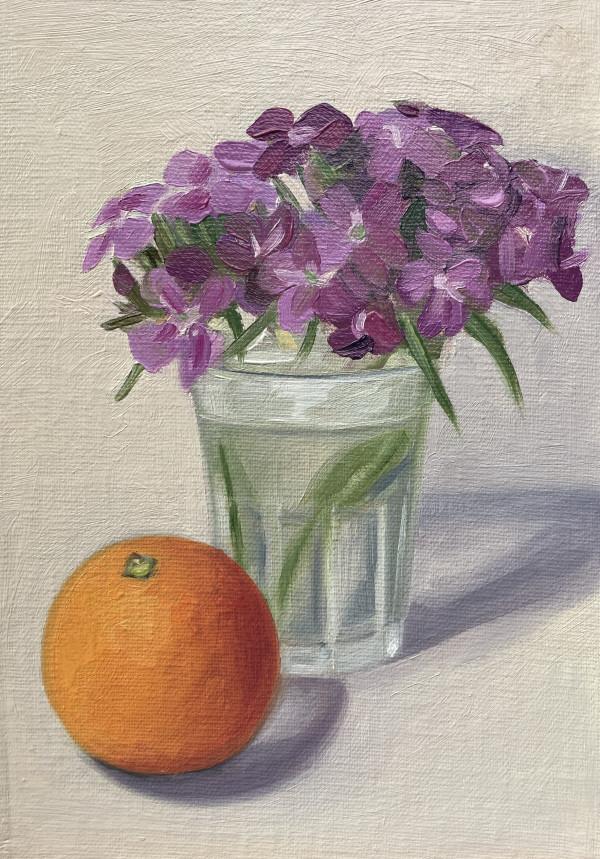 Orange with Flowers by Lauren Ruch