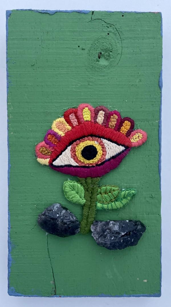 OBSIDIAN FLOWER TALISMAN by WeegeeWeegee