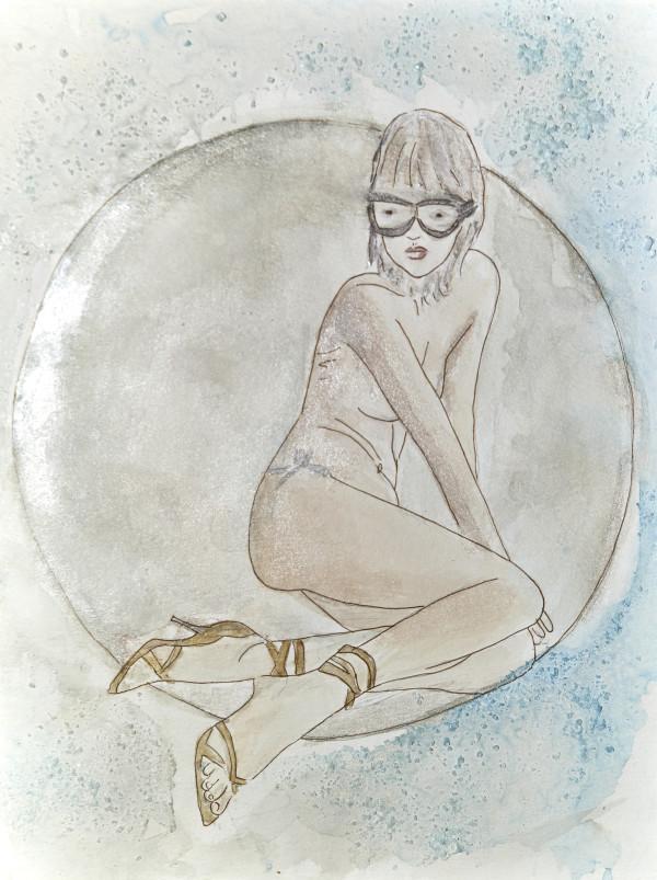Metallic Moon Girl by Maku López