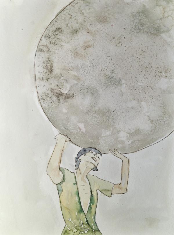 Holding the Blue Moon by Maku López