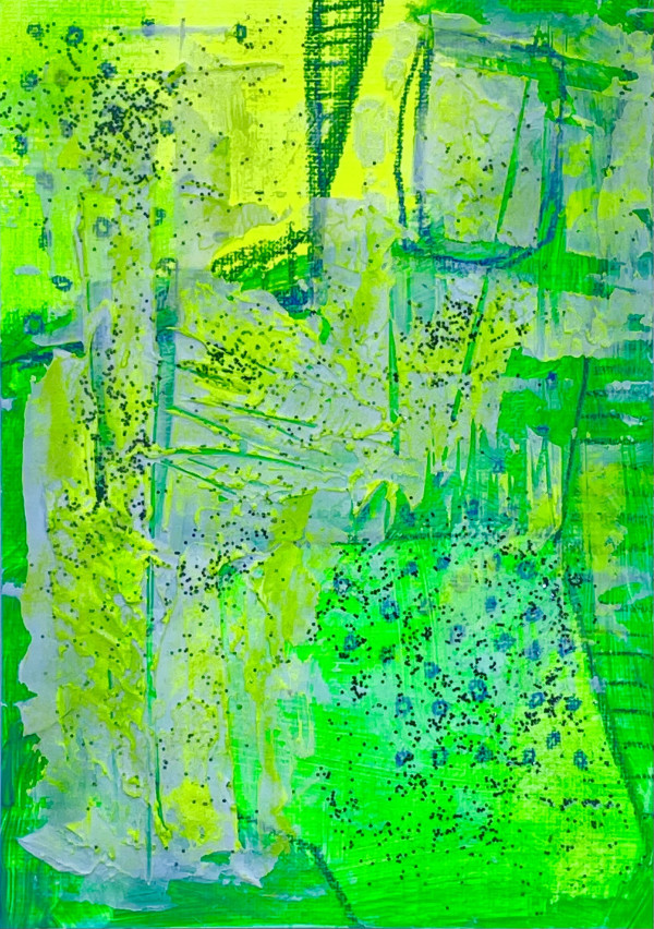 Mini Abstract Fluo Textures 3 by Golbou Rad
