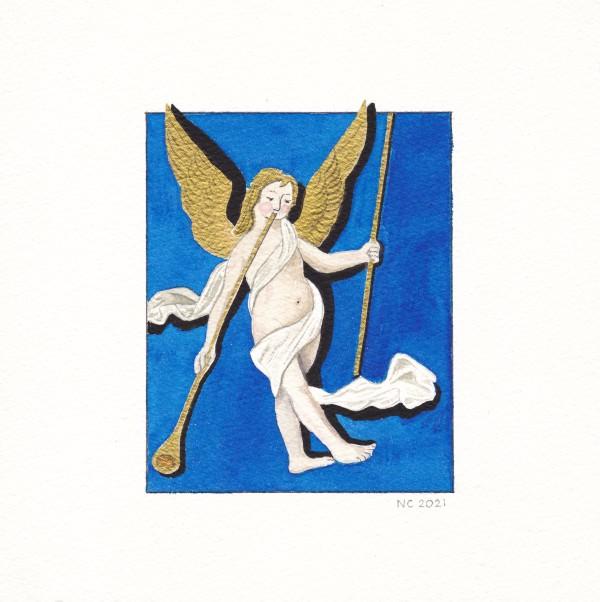 Ange musicien n°2 (Musician angel #2) by Nancy Cahuzac