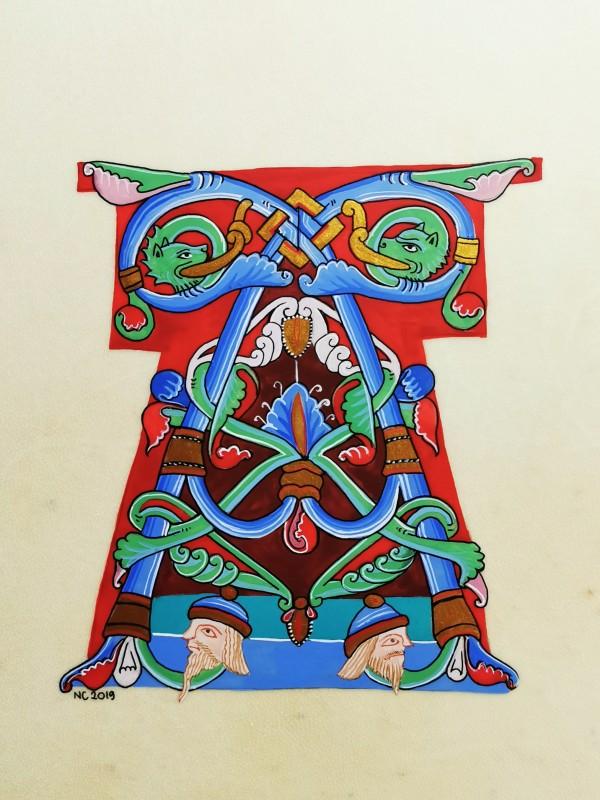"Initiale ""A"" Bible de Chartres (Chartres' Bible ""A"" drop cap) by Nancy Cahuzac"