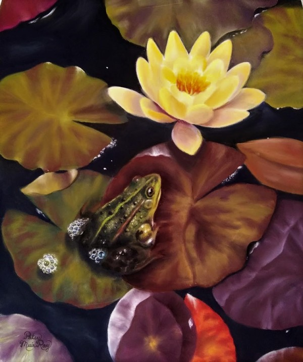 Lily Pad Visitor by Patsy Ruth Kroeckel