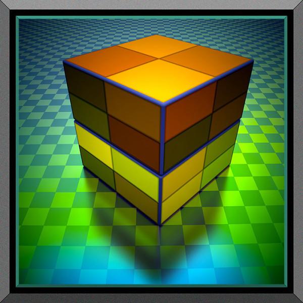 Checkered Blocks, 2016 by Ronald Davis