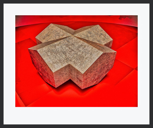 Staurolite On Red by Ronald Davis