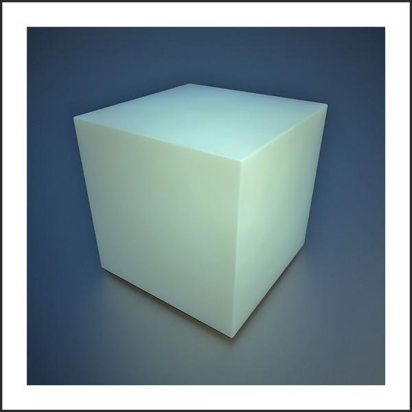 Translucent Cube,  2019 by Ronald Davis