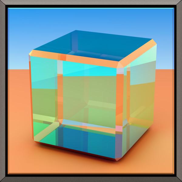 Glass Cube IV by Ronald Davis