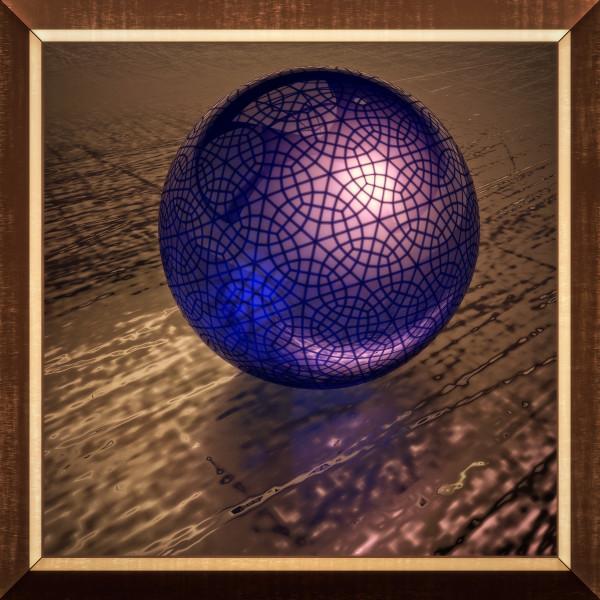 Blue Sphere Three by Ronald Davis
