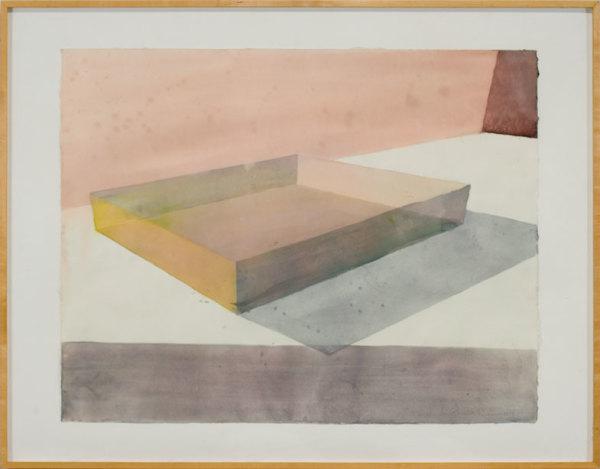 Slab – Watercolor Study by Ronald Davis