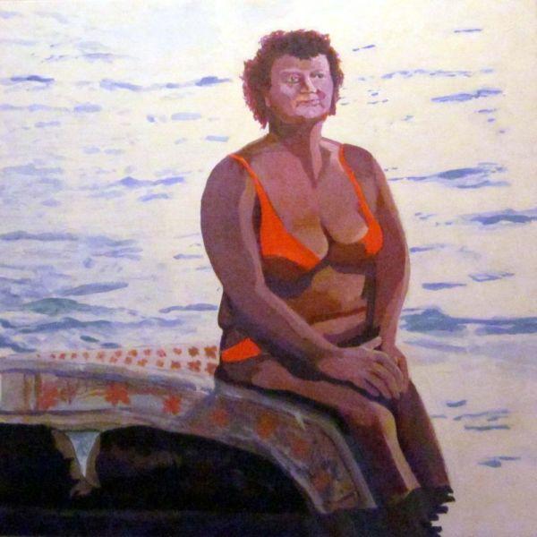 詹姆斯·克肖(James Kershaw)的《床垫上的女人》(Woman on Mattress)