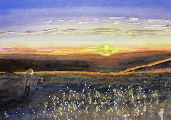Sunset From the Top of Mt. Diablo by Ruth McMillin