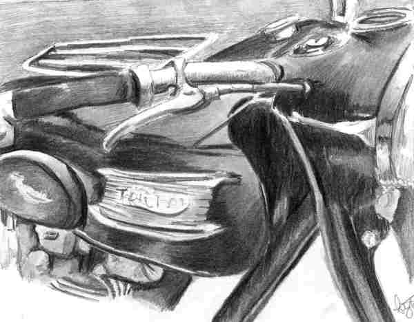 Motorbike (Triumph2) Commission by Ally Tate