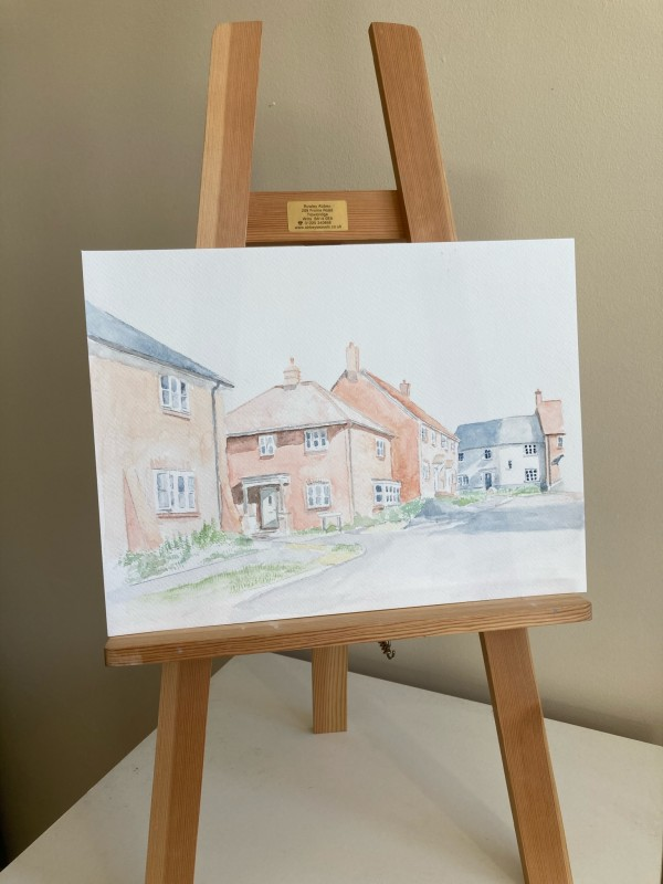 Charminster Farm (Watercolour) by Ally Tate