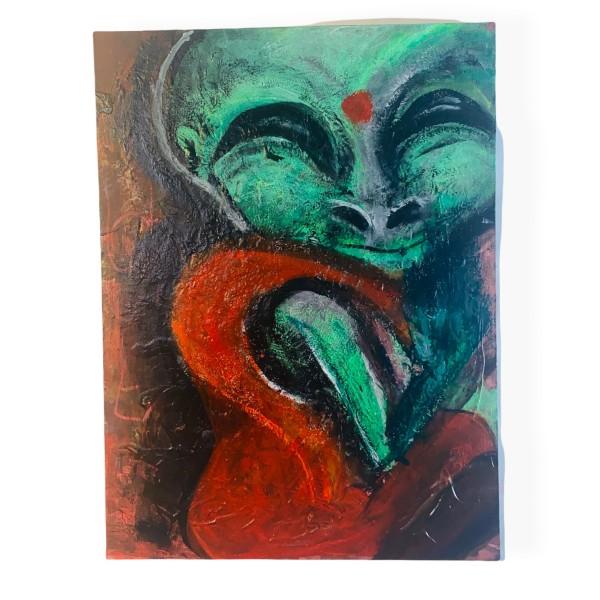 """Alien Monk by """"lizblit"""" Liz Beeston"""