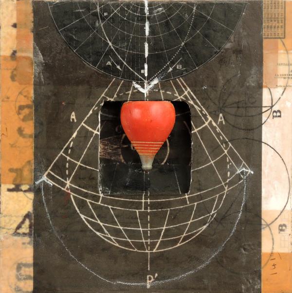 Distance+Observation series 4, framed in black (not shown) by Graceann Warn