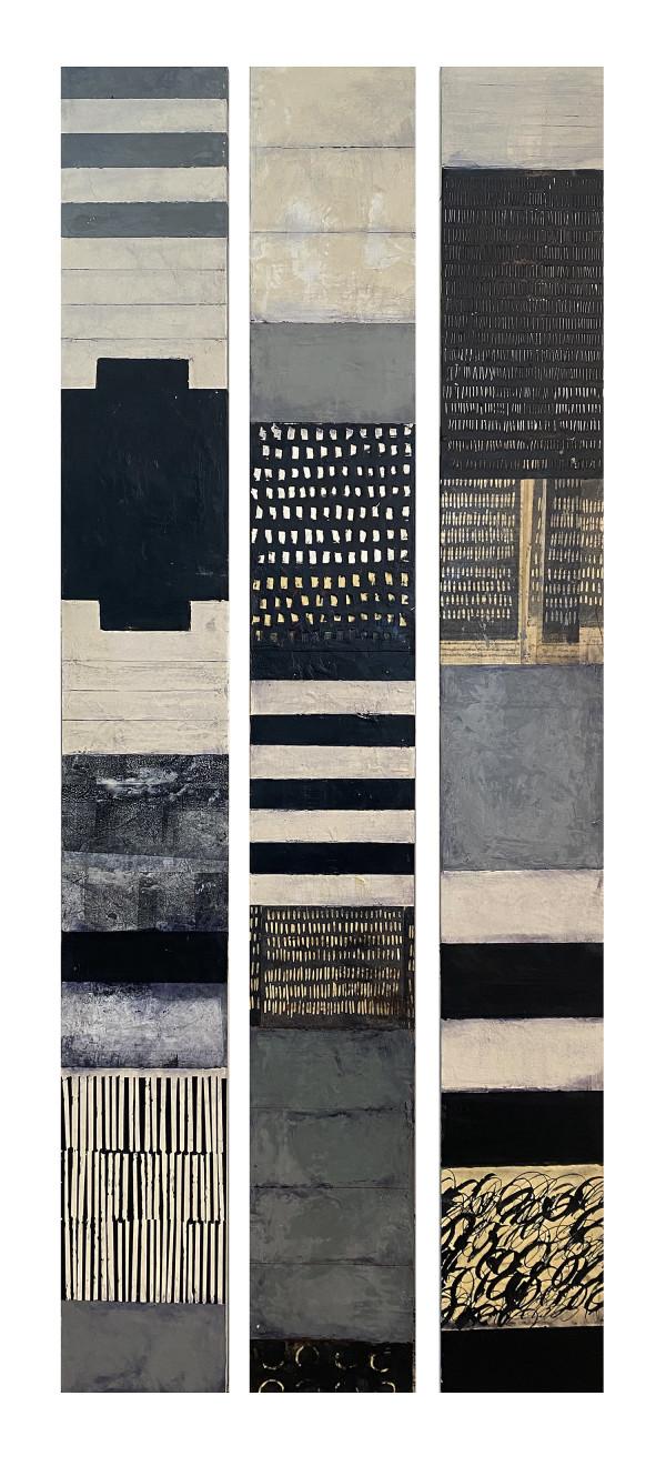 Black + White Totems by Graceann Warn
