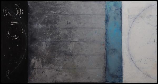 Grey Target Painting 2 by Graceann Warn