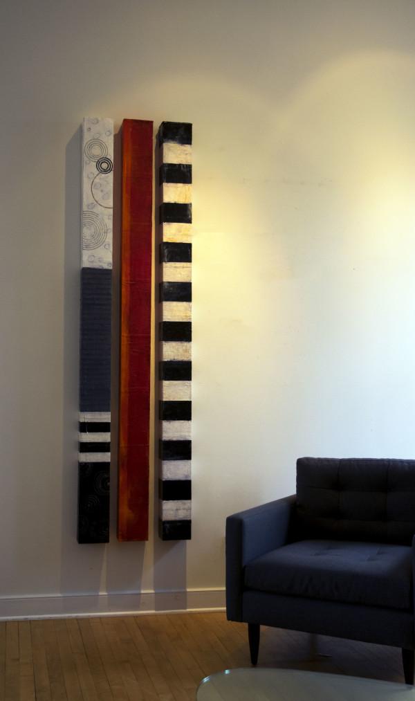 Three Wall Columns by Graceann Warn