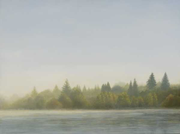 Fog Lifting at Green Lake by Christine Gedye