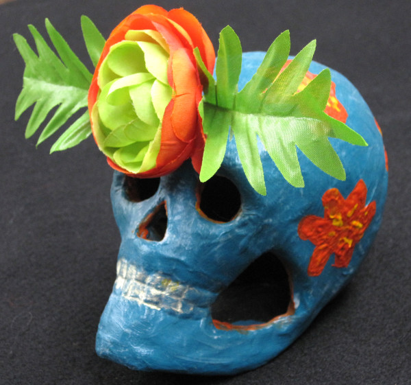 Turquoise Skull by Barbetta Lockart