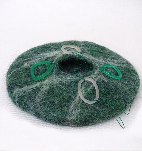 Green Felt Pot #10 by Barbetta Lockart