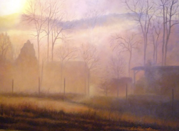 Misty Morning by Sharon Rusch Shaver