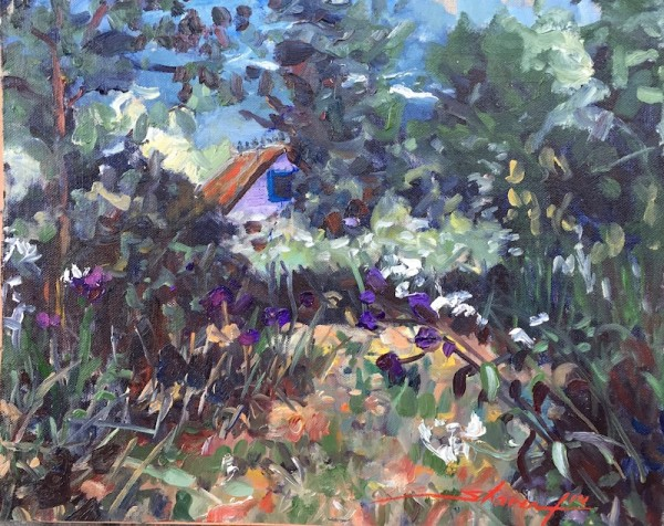 Hiding in the Garden by Sharon Rusch Shaver